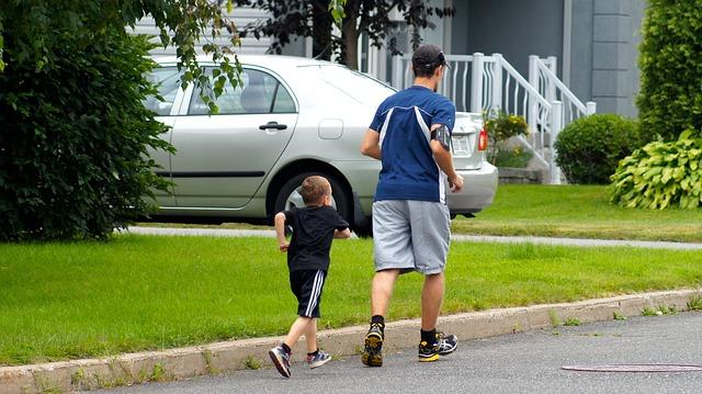 běh otce se synem
